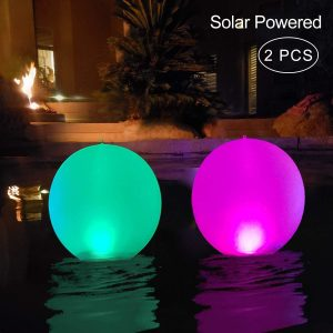 Floating Pool Lights Inflatable Waterproof IP68 Solar Glow Globe Reviews and User Guide